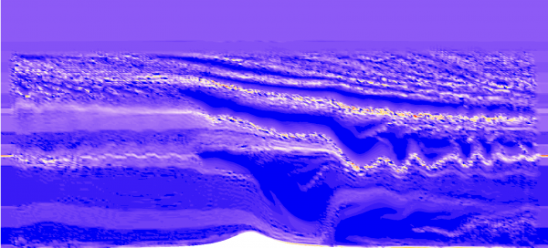 Turbulence structure in stratified flow over a hill